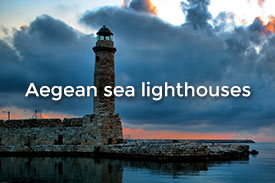 Aegean sea lighthouses